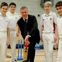 CRICKETING LEGEND INSPIRES STUDENTS  AND BUSINESS LEADERS