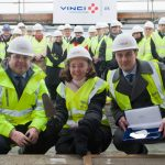 TOPPING OUT OF FIRST PHASE OF KENT INST. OF MEDICINE AND SURGERY