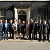 BLEND OF BUSINESSMEN INVITED TO NO.10 DOWNING STREET