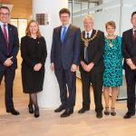 BUSINESS SECRETARY OPENS CRIPPS' NEW OFFICE