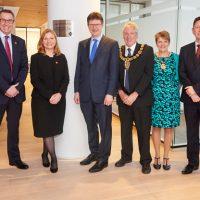 BUSINESS SECRETARY OPENS CRIPPS' NEW OFFICE